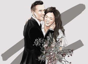 Einladungskarten & Polygrafie für russische Hochzeit