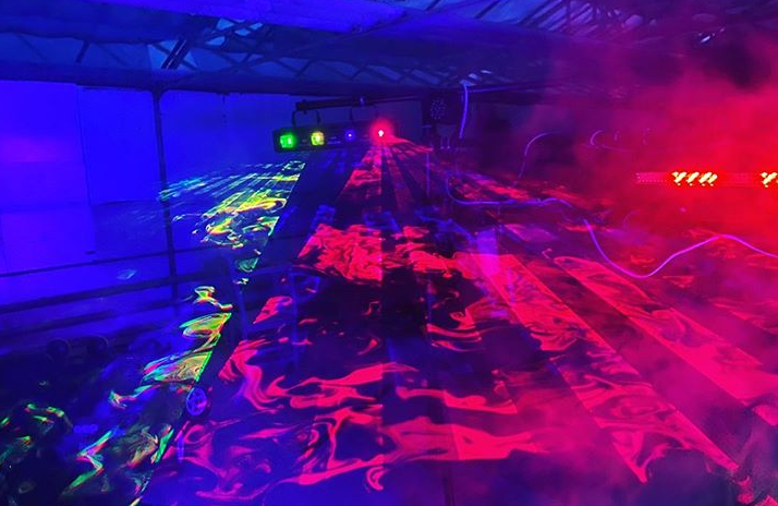 RGB Lasershow für russische Hochzeit