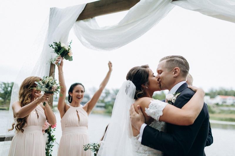 Russisch-albanische Hochzeit mit einem Hochzeitsmoderator