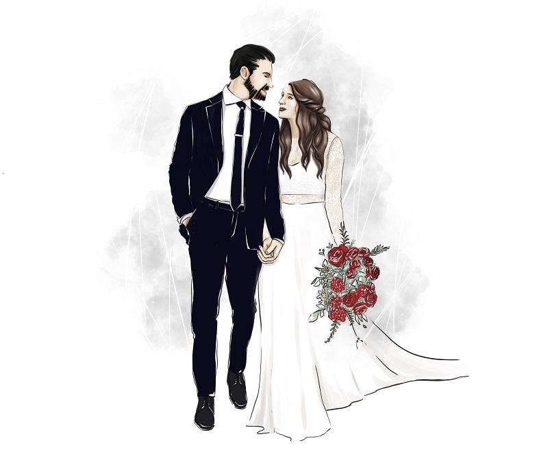 Event Illustration Hochzeit