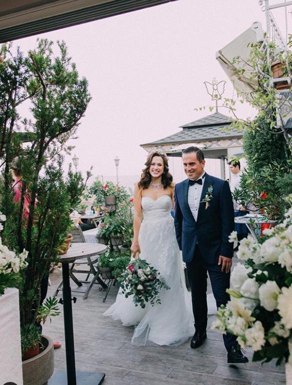 türkisch-russische Hochzeit mit einem Tamada