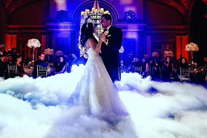 Bodennebelmaschine für eine Hochzeit