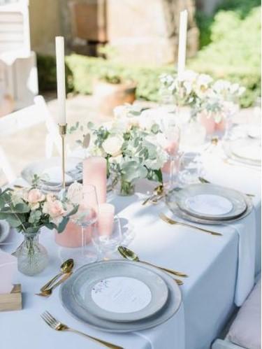 Hochzeitsdekoration - Bankett Tischdekoration