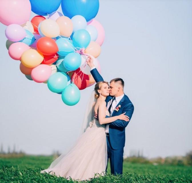 Heliumballons - Einsatz bei einer Hochzeit